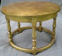 Round Painted Solid Oak Coffee Table